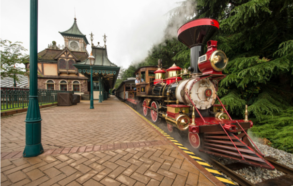trains disney disneyland